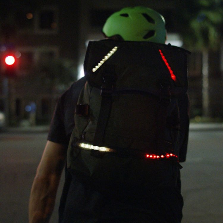 Lumenus backpack GPS wearable tech design by ANDESIGN