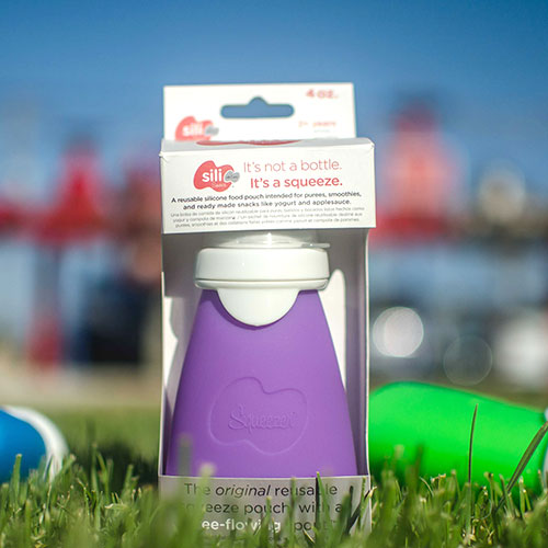 Sili Squeeze silicone food pouch designed by ANDESIGN